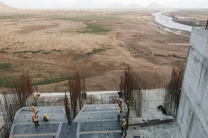 Ethiopia sees the mega-dam as essential to its development, while Egypt and Sudan worry it will restrict access to vital Nile waters (AFP Photo/EDUARDO SOTERAS)