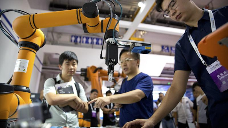China's imports of industrial robots from Japan continue to slide amid US-China trade war