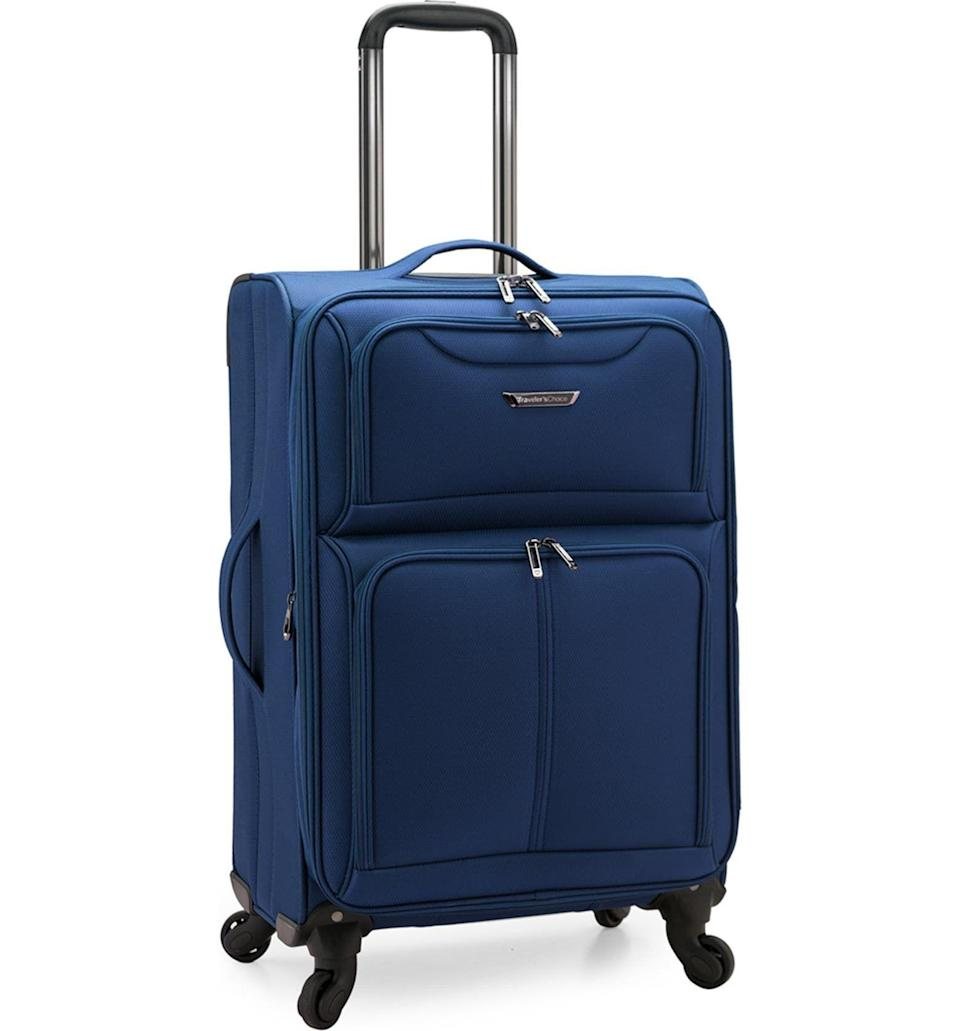 """<p><strong>Travelers Choice</strong></p><p>nordstromrack.com</p><p><a href=""""https://go.redirectingat.com?id=74968X1596630&url=https%3A%2F%2Fwww.nordstromrack.com%2Fs%2Ftravelers-choice-cedar-26-softside-spinner%2F6074989&sref=https%3A%2F%2Fwww.esquire.com%2Fstyle%2Fmens-accessories%2Fg36675557%2Fluggage-sale-nordstrom%2F"""" rel=""""nofollow noopener"""" target=""""_blank"""" data-ylk=""""slk:Shop Now"""" class=""""link rapid-noclick-resp"""">Shop Now</a></p><p><strong><del>$140</del> $60 (57% off)</strong></p>"""
