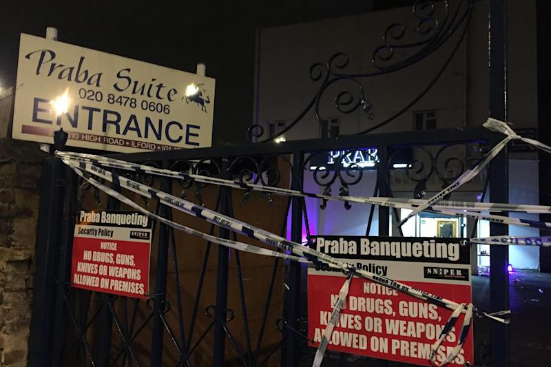 Crime scene: Police were called to Praba Banqueting Suite in the early hours of February 5
