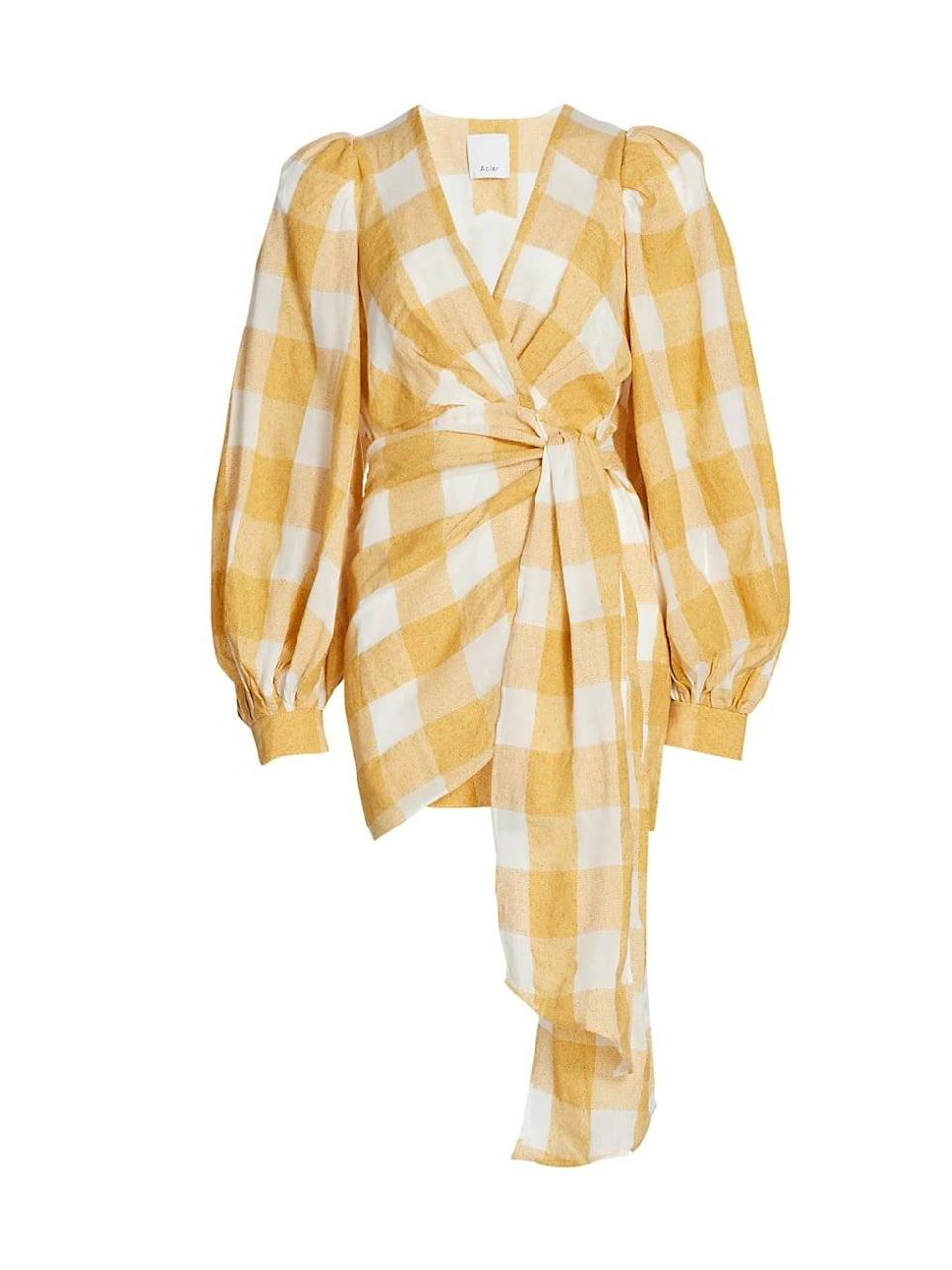 <p>This <span>Acler Sutherland Checkered Wrap Dress</span> ($370) makes an eye-catching fashion statement.</p>