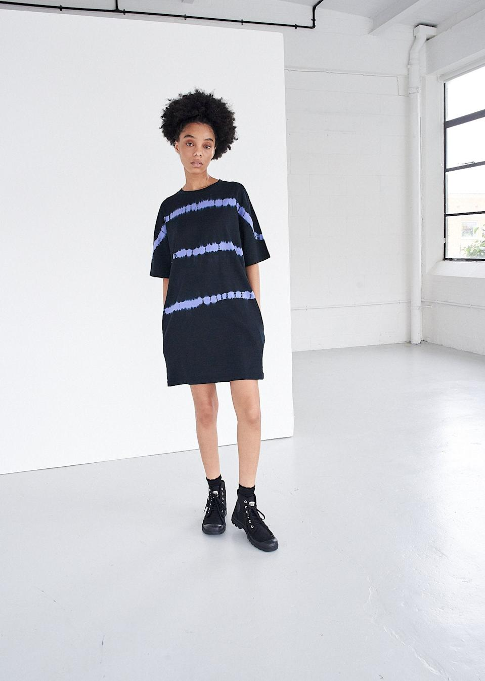 """<br><br><strong>Ninety Percent</strong> Organic Cotton Tie-Dye Striped Oversized T-Shirt Dress, $, available at <a href=""""https://go.skimresources.com/?id=30283X879131&url=https%3A%2F%2Fninetypercent.com%2Fcollections%2Fdresses%2Fproducts%2Forganic-cotton-tie-dye-striped-oversized-t-shirt-dress"""" rel=""""nofollow noopener"""" target=""""_blank"""" data-ylk=""""slk:Ninety Percent"""" class=""""link rapid-noclick-resp"""">Ninety Percent</a>"""