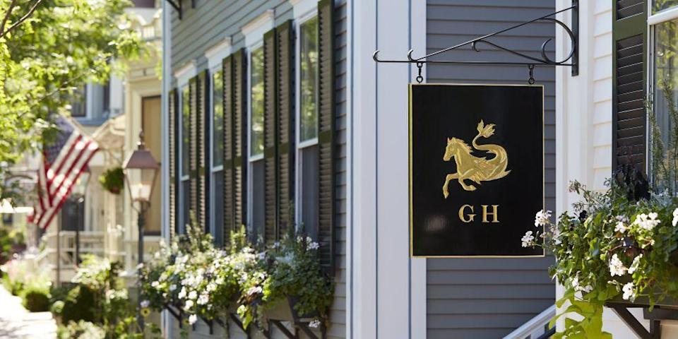 "<p><a href=""https://greydonhouse.com/"" rel=""nofollow noopener"" target=""_blank"" data-ylk=""slk:Greydon House"" class=""link rapid-noclick-resp"">Greydon House</a> lies in Downtown Nantucket's idyllic historic district and is popular both with weekend travelers and locals. The luxurious, 20-room B&B houses the acclaimed fine-dining restaurant and bar Via Mare, full of locally sourced, internationally inspired fare.</p><p>This stylish inn was designed by the New York–based firm <a href=""http://www.romanandwilliams.com/"" rel=""nofollow noopener"" target=""_blank"" data-ylk=""slk:Roman and Williams"" class=""link rapid-noclick-resp"">Roman and Williams</a> and is full of upscale finishes—think hand-painted Portuguese- and Moroccan-tiled walk-in showers and <a href=""https://www.johnrobshaw.com/?utm_campaign=US