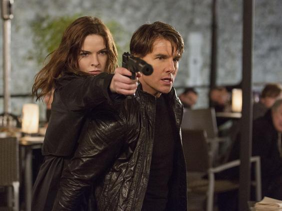 Rebecca Ferguson and Tom Cruise in 'Mission: Impossible – Rogue Nation' (Rex)