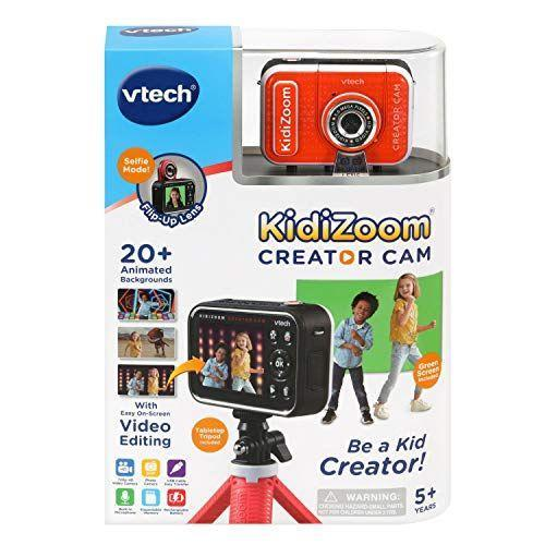 """<p><strong>VTech</strong></p><p>amazon.com</p><p><strong>$49.44</strong></p><p><a href=""""https://www.amazon.com/dp/B087CXPXGF?tag=syn-yahoo-20&ascsubtag=%5Bartid%7C10070.g.34428616%5Bsrc%7Cyahoo-us"""" rel=""""nofollow noopener"""" target=""""_blank"""" data-ylk=""""slk:SHOP NOW"""" class=""""link rapid-noclick-resp"""">SHOP NOW</a></p><p>This kid-friendly video camera is perfect for children who love to be in the spotlight. Thanks to the built-in microphone and special effects like animated backgrounds and the time-lapse feature, any kid will love creating some movie magic with this easy-to-use creator cam. <em>Ages 5+</em></p>"""
