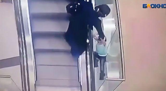The aunt running towards the child. Source: Supplied