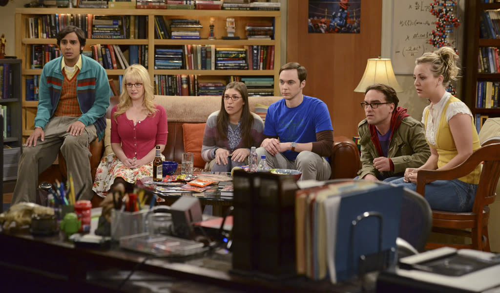 """<b>""""The Big Bang Theory""""</b><br><br>Thursday, 5/10 at 8 PM on CBS<br><br><a href=""""http://yhoo.it/IHaVpe"""">More on Upcoming Finales </a>"""