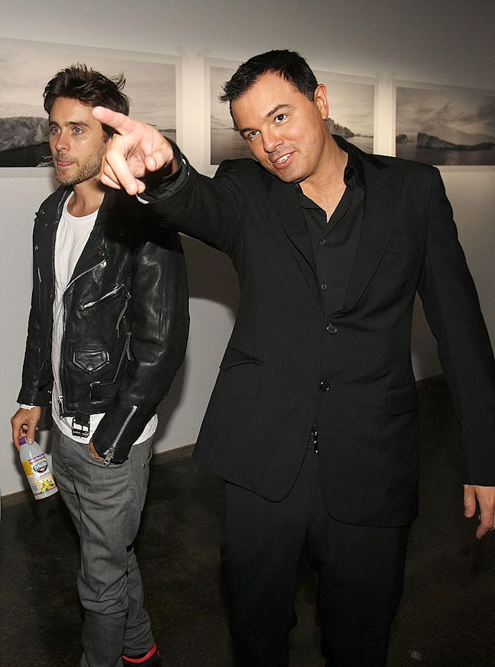 """Dreamy Jared Leto and """"Family Guy's"""" Seth MacFarlane checked out the exhibit. Bolthouse actually took the photographs on display during a trip to Greenland with Leto and his band, 30 Seconds to Mars. Chris Weeks/<a href=""""http://www.wireimage.com"""" target=""""new"""">WireImage.com</a> - August 12, 2009"""