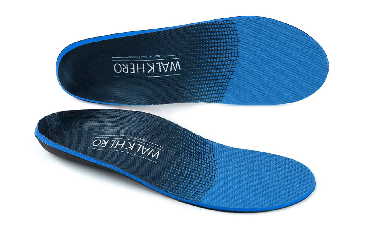 """<p>These comfort insoles feature deep heel cups that are meant to cushion and stabilize your feet with every step, making them perfect for those with flat feet, plantar fasciitis, or joint pain.</p> <p>To buy: <a rel=""""nofollow"""" href=""""https://www.amazon.com/gp/product/B075YV8KSQ/ref=as_li_tl?ie=UTF8&tag=tlbestcomfortinsolesinserts-20&camp=1789&creative=9325&linkCode=as2&creativeASIN=B075YV8KSQ&linkId=e78dcbba78e68b7cbeabf6d764d89bcd"""">amazon.com</a>, from $10</p>"""