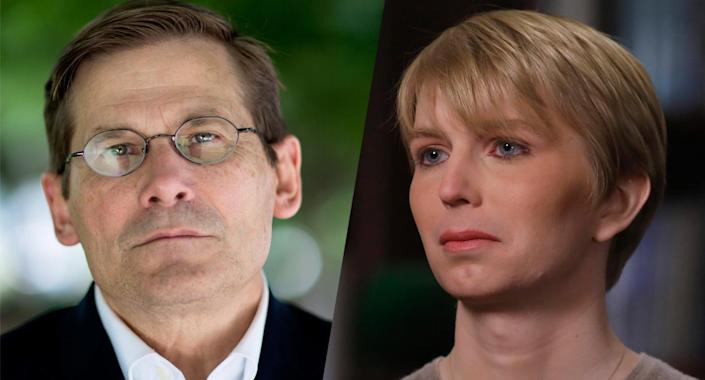 Michael Morell, former deputy director of the CIA, and Chelsea Manning. (Photos: David Hume Kennerly/Getty Images and Heidi Gutman/ABC via Getty Images)