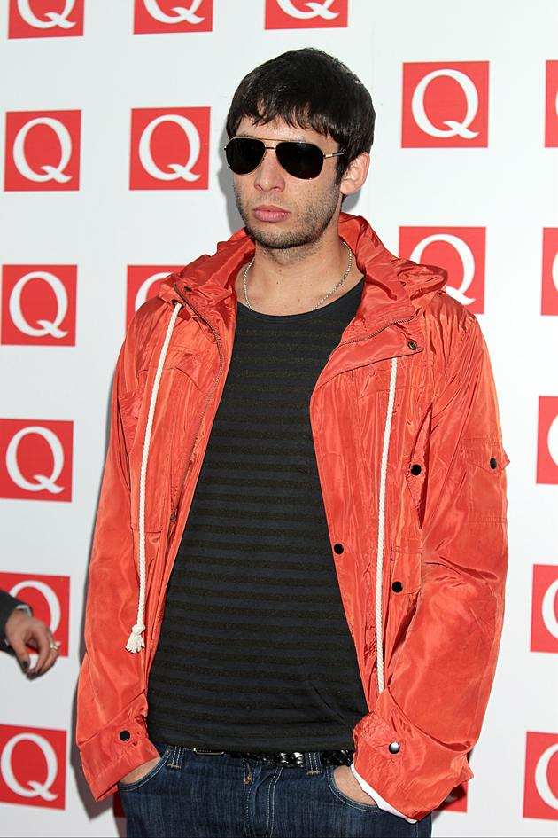 Example looked too cool for school in his shades.