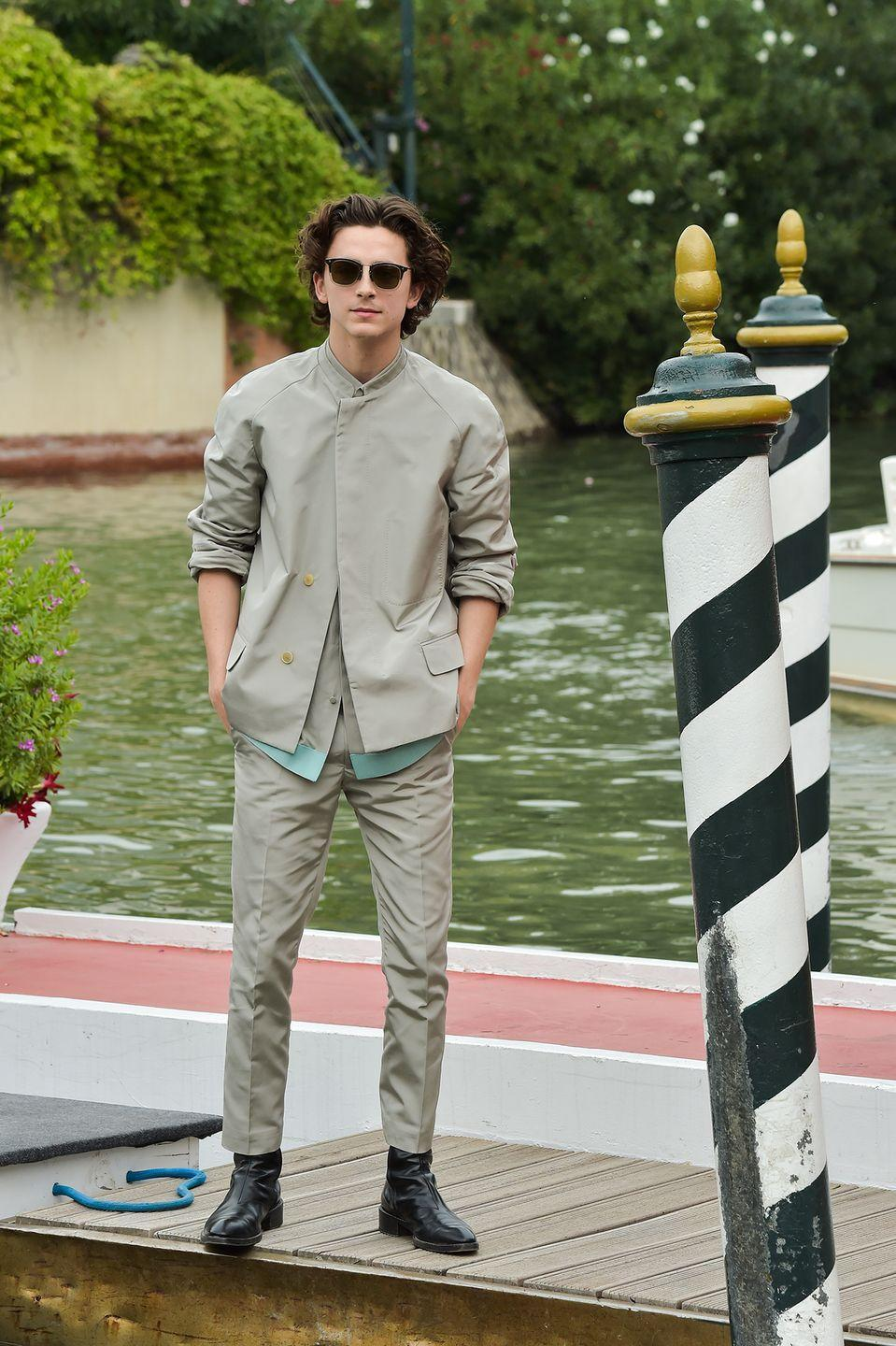 <p>The Soviets have colonised the Moon, and Chalamet has been installed as its general secretary in a razor sharp, futuristically muted Haider Ackermann suit. </p>