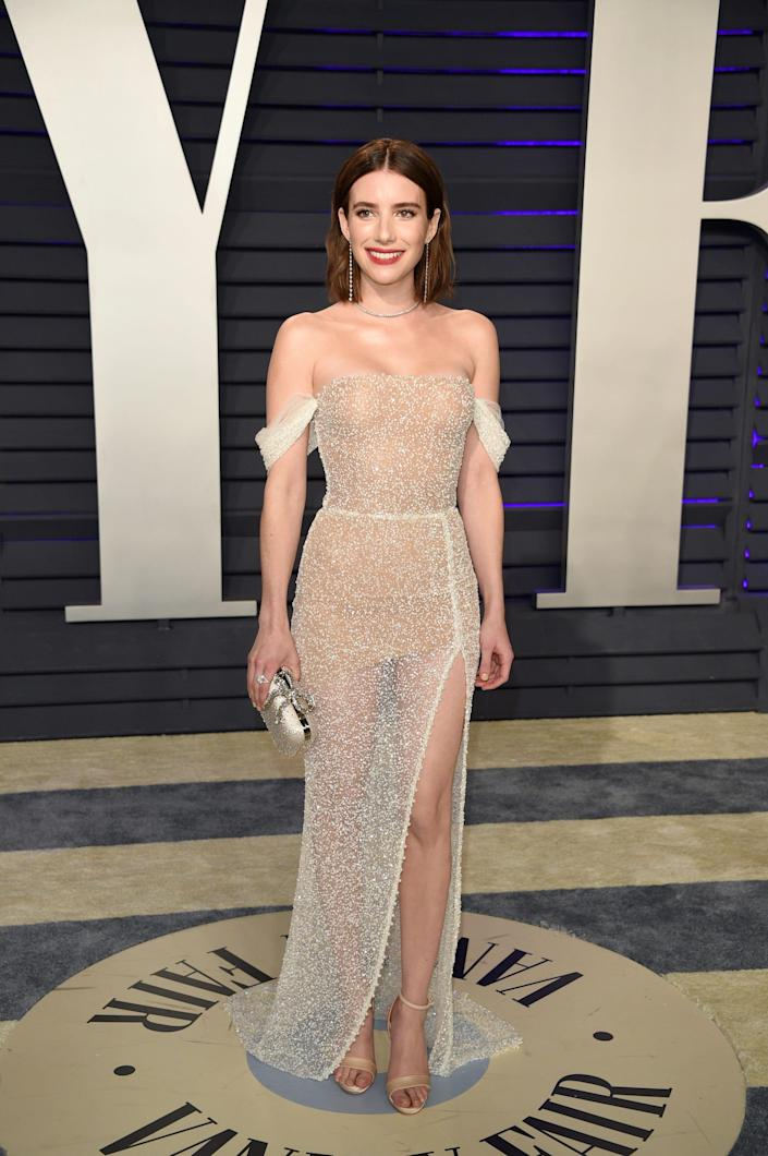 emma roberts after party oscars