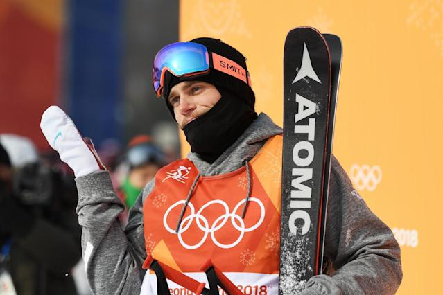 Olympian Gus Kenworthy shared a kiss with his boyfriend on TV (Getty)