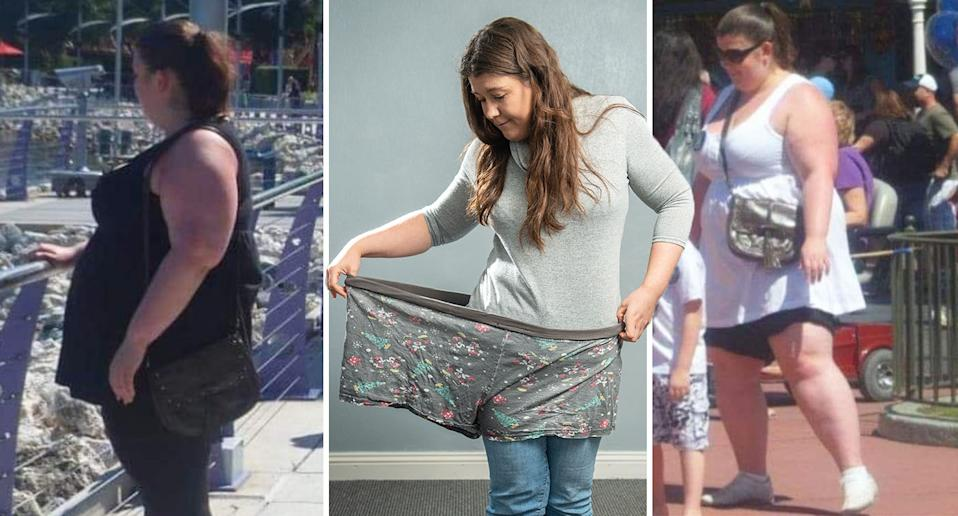 Sarah Wass lost almost half her body weight. [Photo: SWNS]