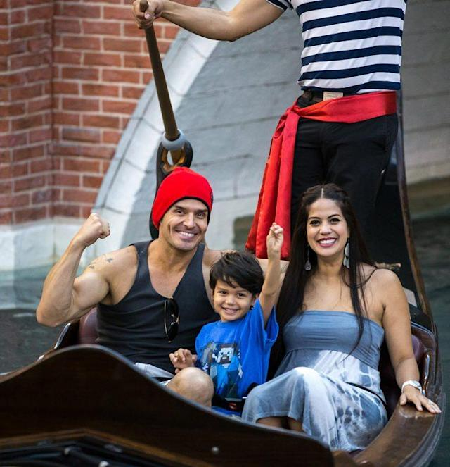 Antonio Sabato Jr. with his wife, Cheryl Moana Marie, and their son, Antonio, in Las Vegas last year. (Photo: Erik Kabik Photography/ MediaPunch/IPX)