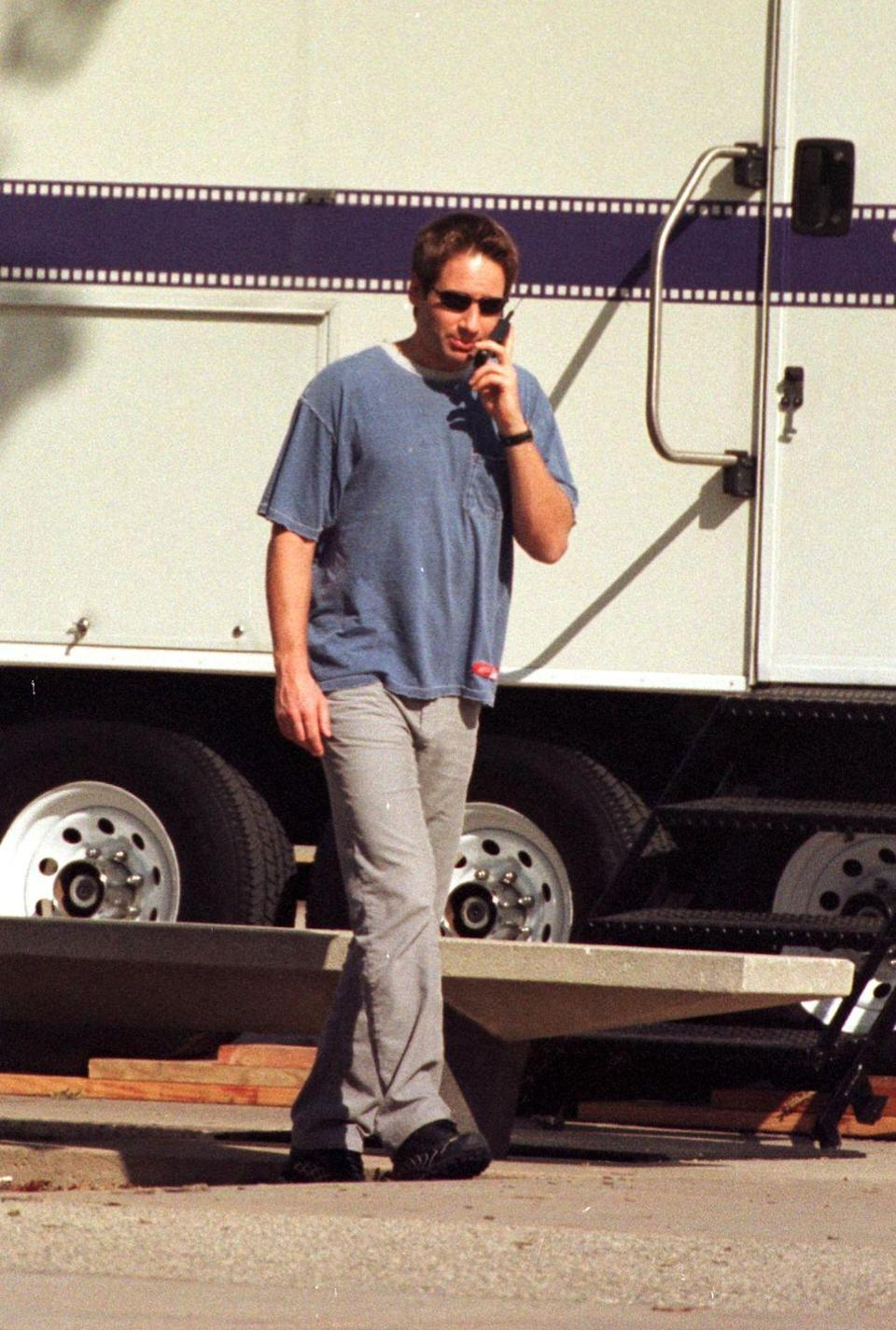 """<p>""""No, I won't do my Mulder voice for you, Mom...""""</p>"""