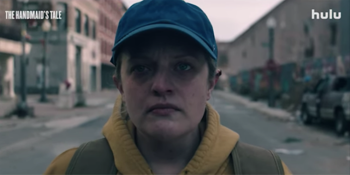 Elisabeth Moss as June Osborne in season four of Hulu's The Handmaid's Tale