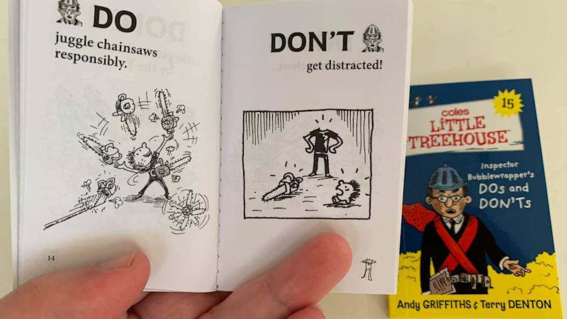 Pictured is an illustration of a decapitated man from the book Inspector Bubblewrapper's Do's and Don'ts