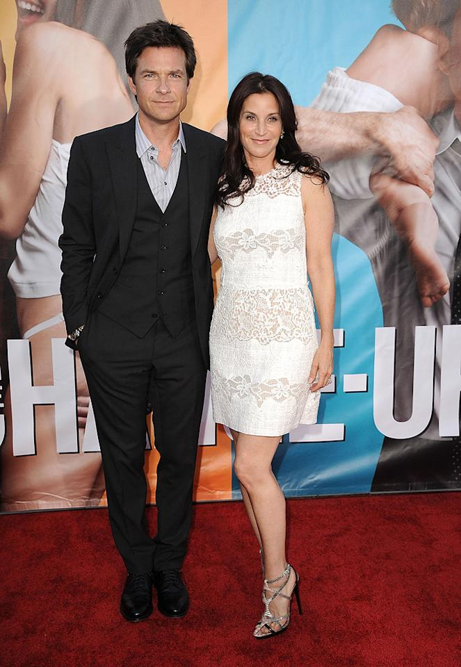 """<a href=""""http://movies.yahoo.com/movie/contributor/1800019148"""">Jason Bateman</a> and <a href=""""http://movies.yahoo.com/movie/contributor/1800020936"""">Amanda Anka</a> at the Los Angeles premiere of <a href=""""http://movies.yahoo.com/movie/1810155680/info"""">The Change-Up</a> on August 1, 2011."""
