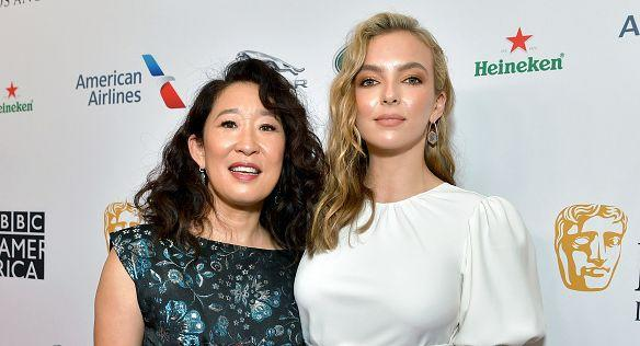 Les actrices Sandra Oh and Jodie Comer. (Photo: Emma McIntyre)
