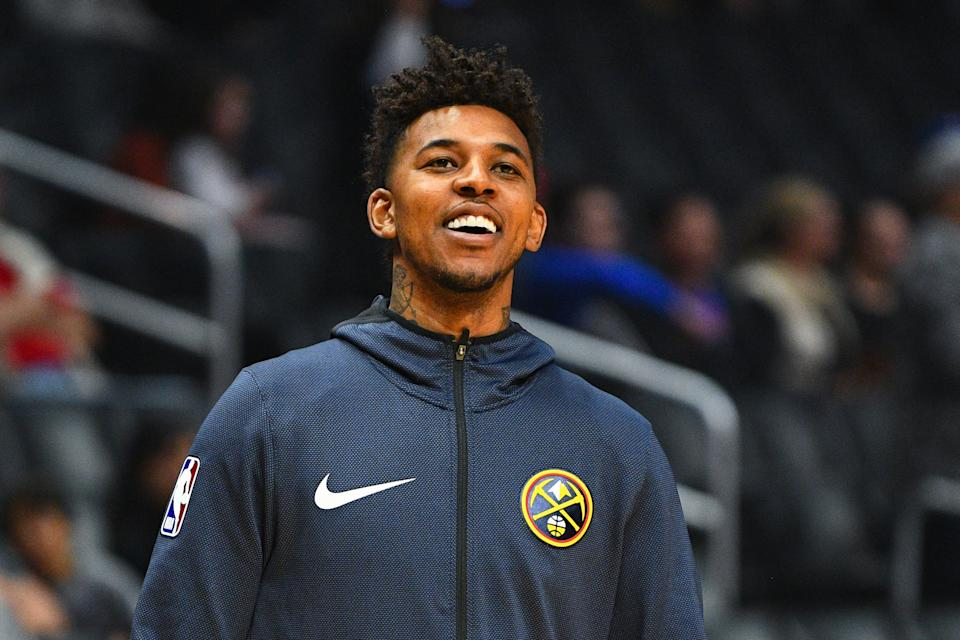 LOS ANGELES, CA - DECEMBER 22: Denver Nuggets Guard Nick Young (34) looks on before a NBA game between the Denver Nuggets and the Los Angeles Clippers on December 22, 2018 at STAPLES Center in Los Angeles, CA. (Photo by Brian Rothmuller/Icon Sportswire via Getty Images)