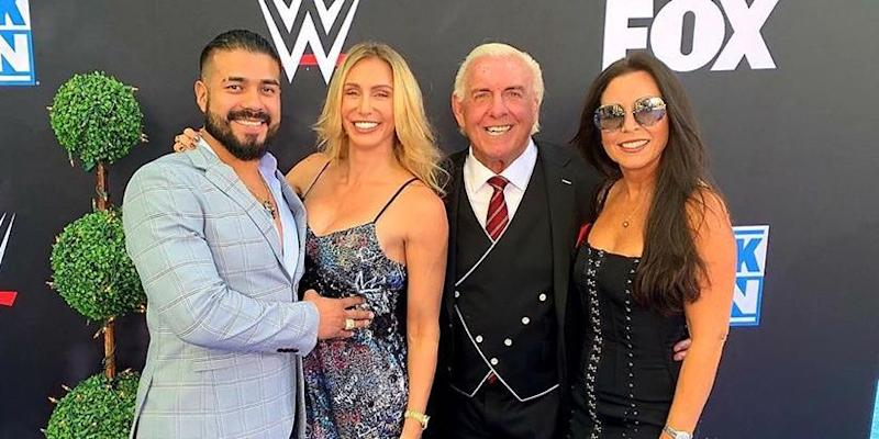 WWE's Andrade admits he was nervous meeting girlfriend Charlotte's dad Ric Flair