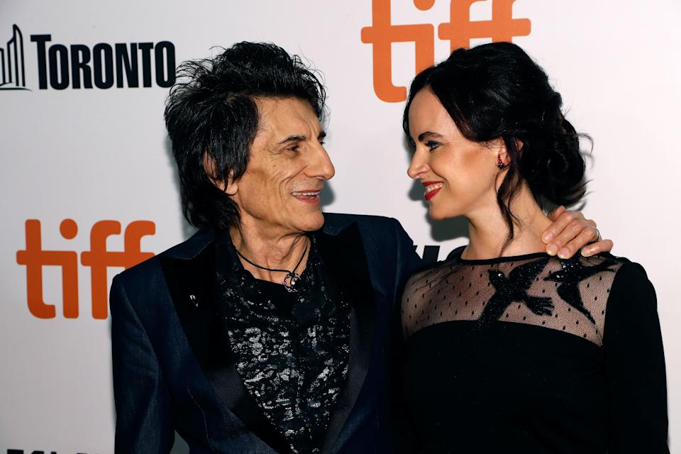 TORONTO, ON - SEPTEMBER 16: Ron Wood and Sally Wood attend the premiere of