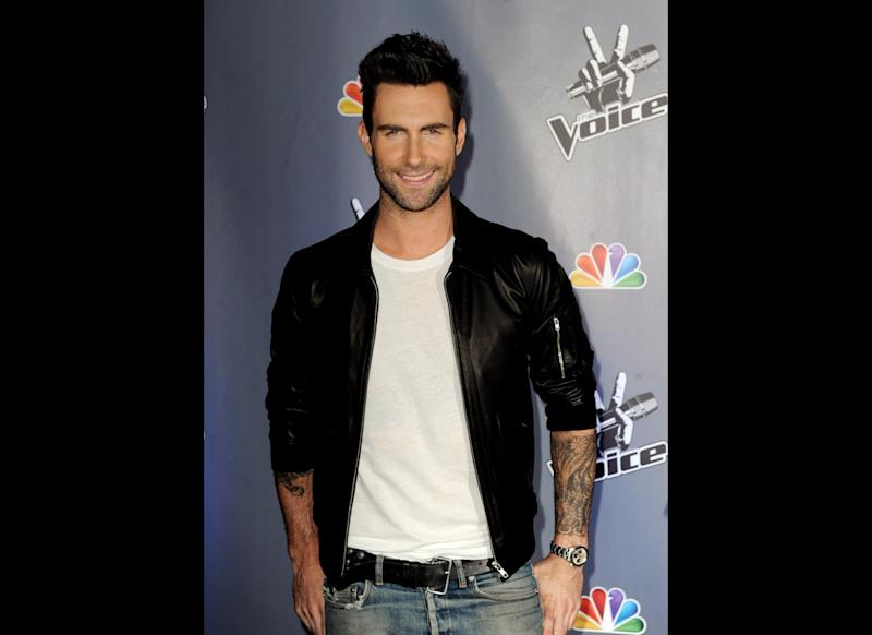 Singer Adam Levine arrives at a press junket for NBC's 'The Voice' at Sony Studios on October 28, 2011 in Culver City, California. (Getty)