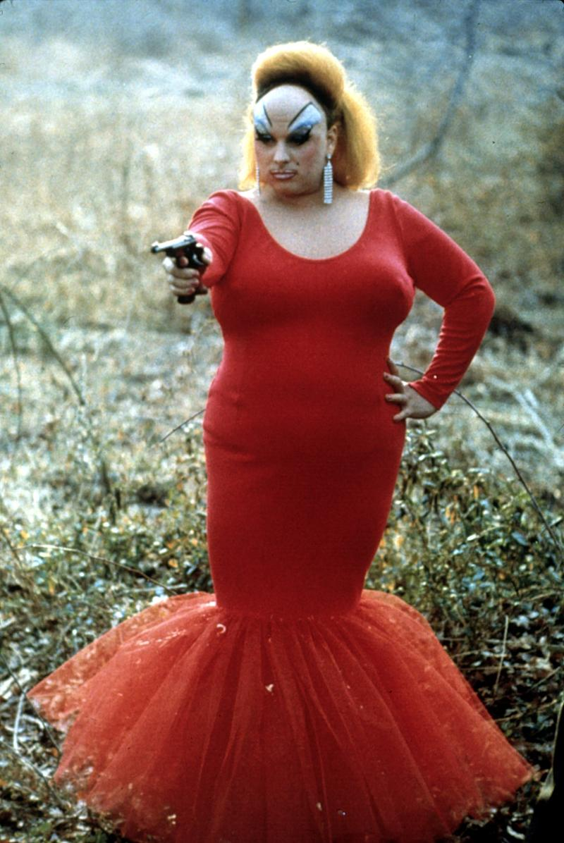 """Pink Flamingos, 1972 Costume Designer: Van Smith You could create an entire list of camp costumes from John Waters films, but Pink Flamingos remains the director's most outrageous offering, sartorially and in every other sense. If the sight of a gun-wielding Divine in her red fishtail proves too much, brace yourself for how her character, Babs Johnson, earned her """"Filthiest Person Alive"""" title."""