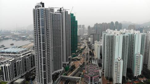 Drone aerial shot of the Sun Hung Kai Properties' Cullinan West II (left) over the Nam Cheong Station on 23 August 2018. Photo: SCMP / Roy Issa