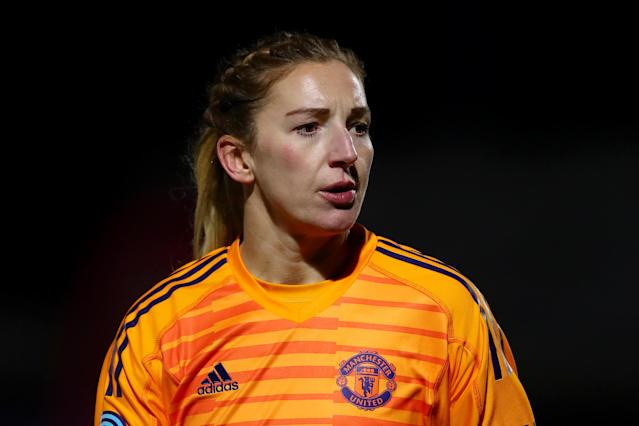 Goalkeeper Siobhan Chamberlain announced her pregnancy earlier this year. (Getty Images)