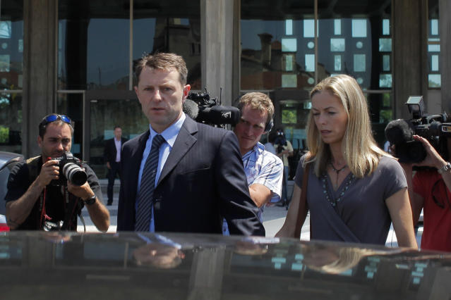 Gerry and Kate McCann said reports claiming German authorities have sent them evidence showing their daughter is dead are false. (Sipa USA)