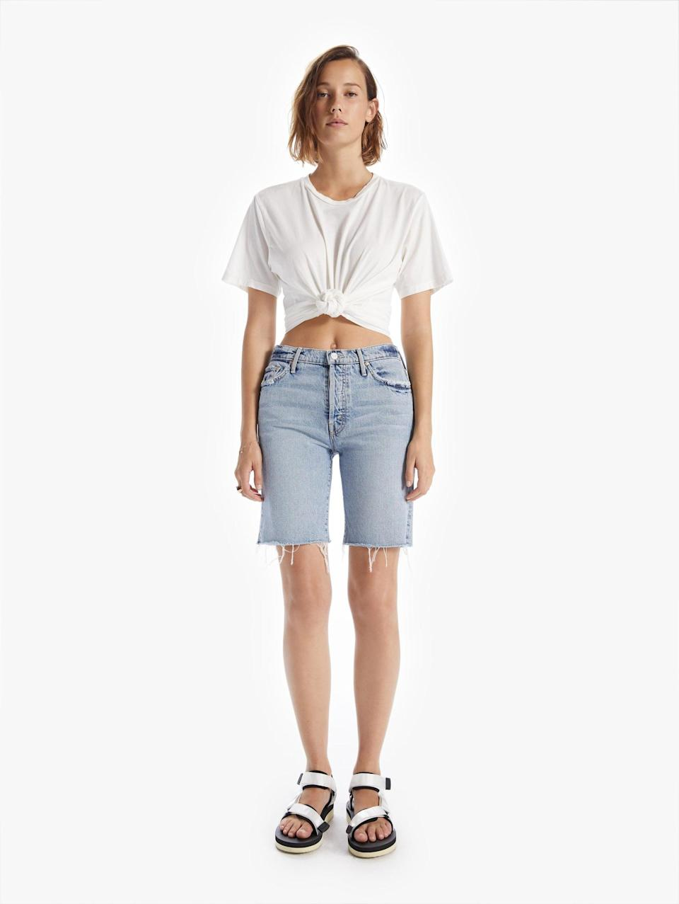 <p><span>Mother Denim The Trickster Short Fray Win Some, Lose Some</span> ($248)</p>