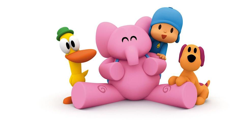 "<p>This simply animated series, originally done in Spanish but dubbed in English, centers around a curious 4-year-old. Each episode is composed of a couple of Pocoyo's adventures, so if you're looking to cut down on screen time, this one is easy to stop before the 30-minute mark. </p><p><a class=""link rapid-noclick-resp"" href=""https://www.netflix.com/title/70288470"" rel=""nofollow noopener"" target=""_blank"" data-ylk=""slk:WATCH NOW"">WATCH NOW</a></p>"