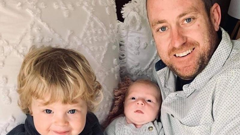 Jarrod Fox (right), 37, was a loving father to his two sons, two-year-old Archer (left) and baby Jasper (centre).