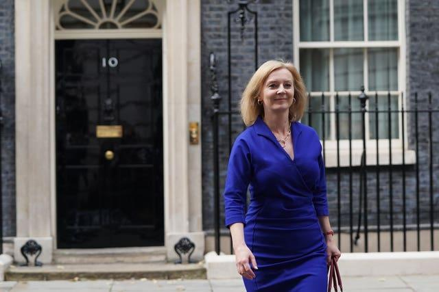 Newly-appointed Foreign Secretary Liz Truss leaves Number 10 Downing Street