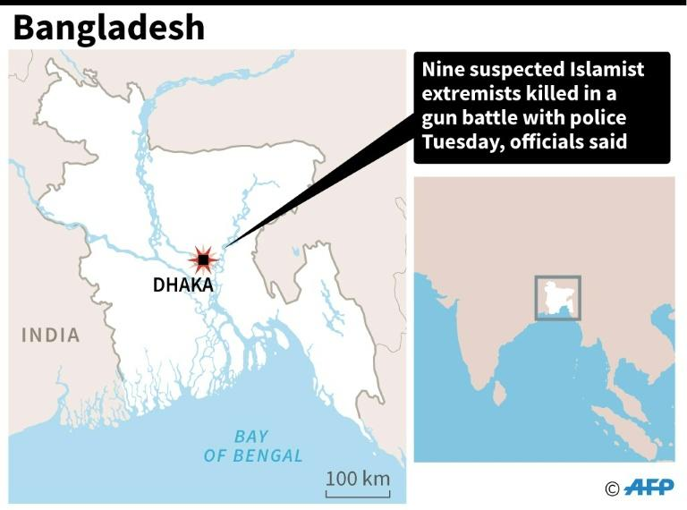 Islamist extremists killed in gun battle with police in Dhaka