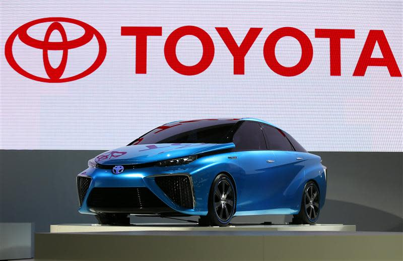 Toyota Motor Corp's FCV concept car is seen at the 43rd Tokyo Motor Show