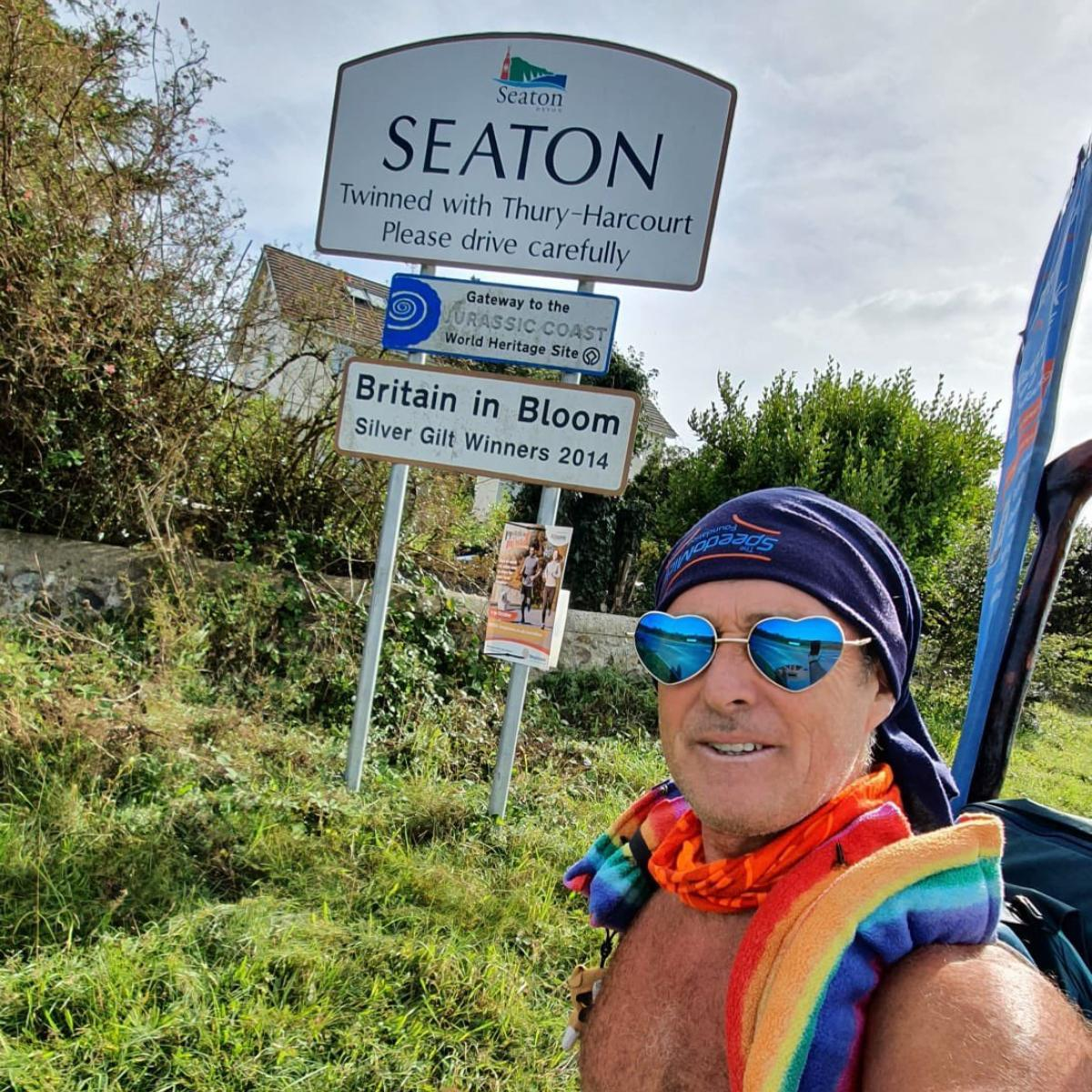 Mick Cullen, known as Speedo Mick, will seek to give away up to £250,000 from his own foundation during a 2,000 mile, five-month trek across the UK and Ireland