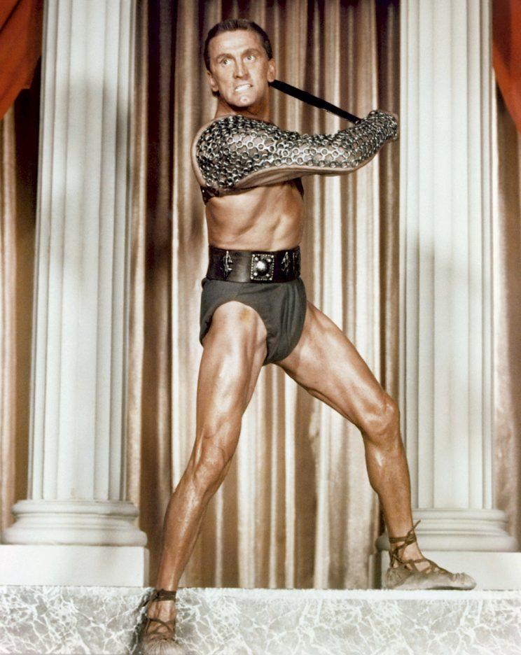Kirk Douglas in 'Spartacus' (Photo: Everett Collection)