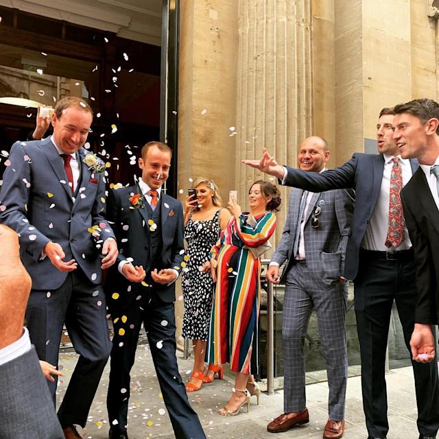 The couple were married at a ceremony in Bristol (Picture: SWNS)