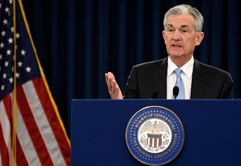 Federal Reserve Chair Jerome Powell speaks during a news conference in Washington, Wednesday, March 20, 2019. (AP Photo/Susan Walsh)