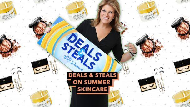 PHOTO: Deals & Steals on summer skincare (ABC News Photo Illustration, Strivectin, Laura Geller, Lash Star)