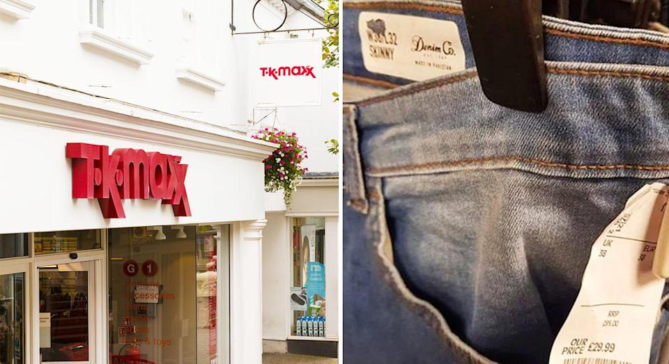 Richard Foster found a £15 pair of Primark jeans selling for double. [Photo: Getty/Facebook]