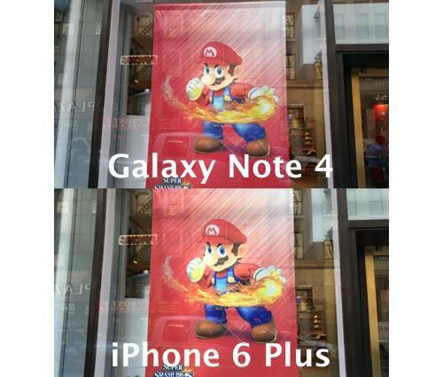 Comparison of photos taken on iPhone 6 Plus and Galaxy Note 4 smartphones