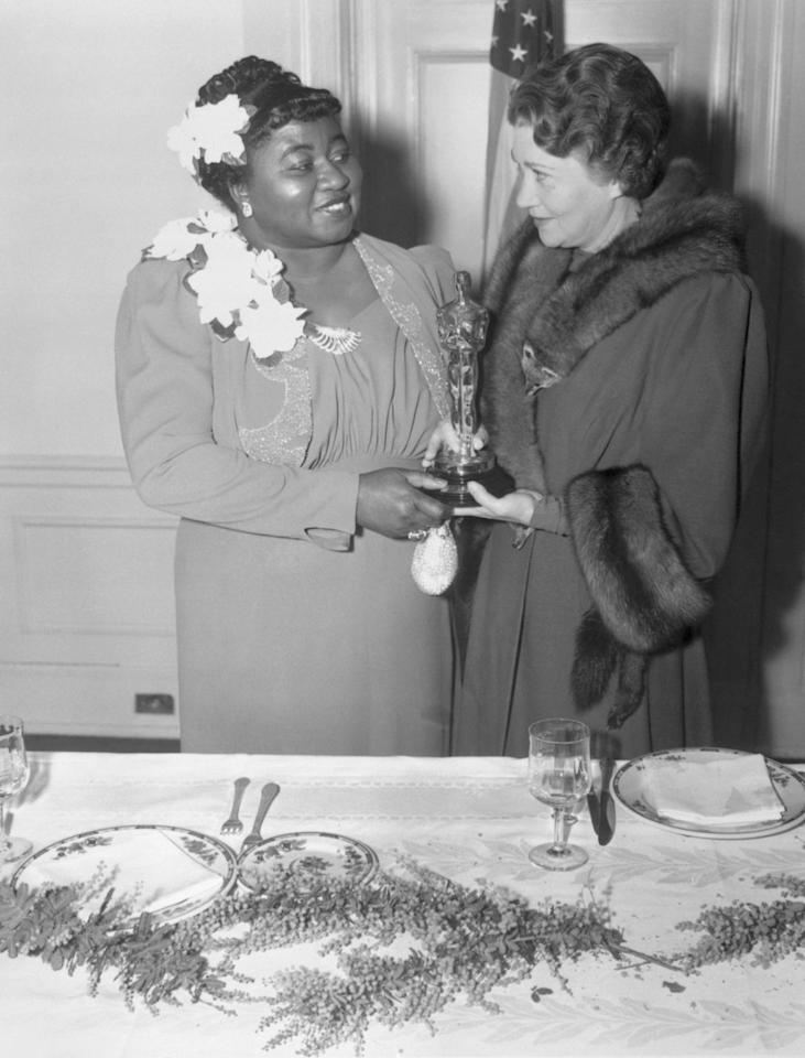 <p>The Oscars had been doling out little gold men since 1929, but it wasn't until 1940 that a black actor won an Oscar. Hattie McDaniel took home the Supporting Actress prize for her work in <em>Gone With the Wind</em>, but even being a newly minted Oscar winner didn't spare her from the cruel indignities of segregation—McDaniel had to sit at the back of the venue, separate from the rest of the cast. It would be 51 more years until the next African American woman won an acting Oscar: Whoopi Goldberg took one home for her supporting role in <em>Ghost</em>.</p>
