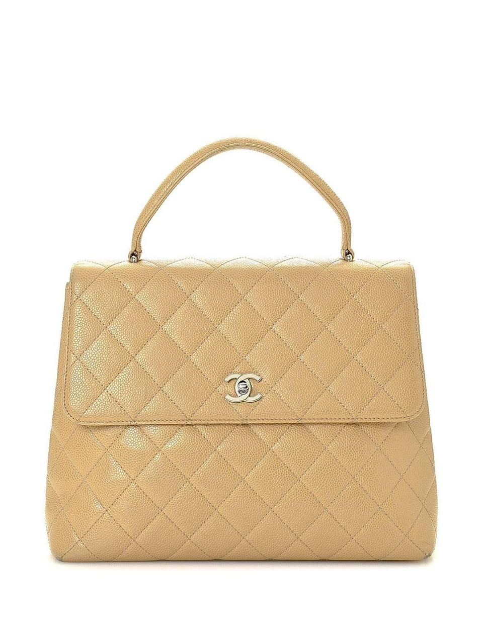 """<p><strong>Chanel Pre-Owned</strong></p><p>farfetch.com</p><p><strong>$3295.00</strong></p><p><a href=""""https://go.redirectingat.com?id=74968X1596630&url=https%3A%2F%2Fwww.farfetch.com%2Fshopping%2Fwomen%2Fchanel-pre-owned-kelly-diamond-quilted-handbag-item-16595596.aspx&sref=https%3A%2F%2Fwww.harpersbazaar.com%2Fwedding%2Fplanning%2Fg37129060%2F10-year-anniversary-gifts%2F"""" rel=""""nofollow noopener"""" target=""""_blank"""" data-ylk=""""slk:SHOP NOW"""" class=""""link rapid-noclick-resp"""">SHOP NOW</a></p><p>Stick to a theme, but get creative. Diamond quilting (especially in the form of a must-have bag) works just as well for the fashion fanatic as fine jewelry.</p>"""