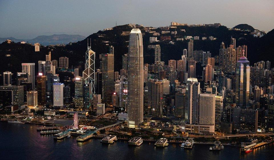 The Hong Kong skyline, with the HSBC building. Photo: Reuters