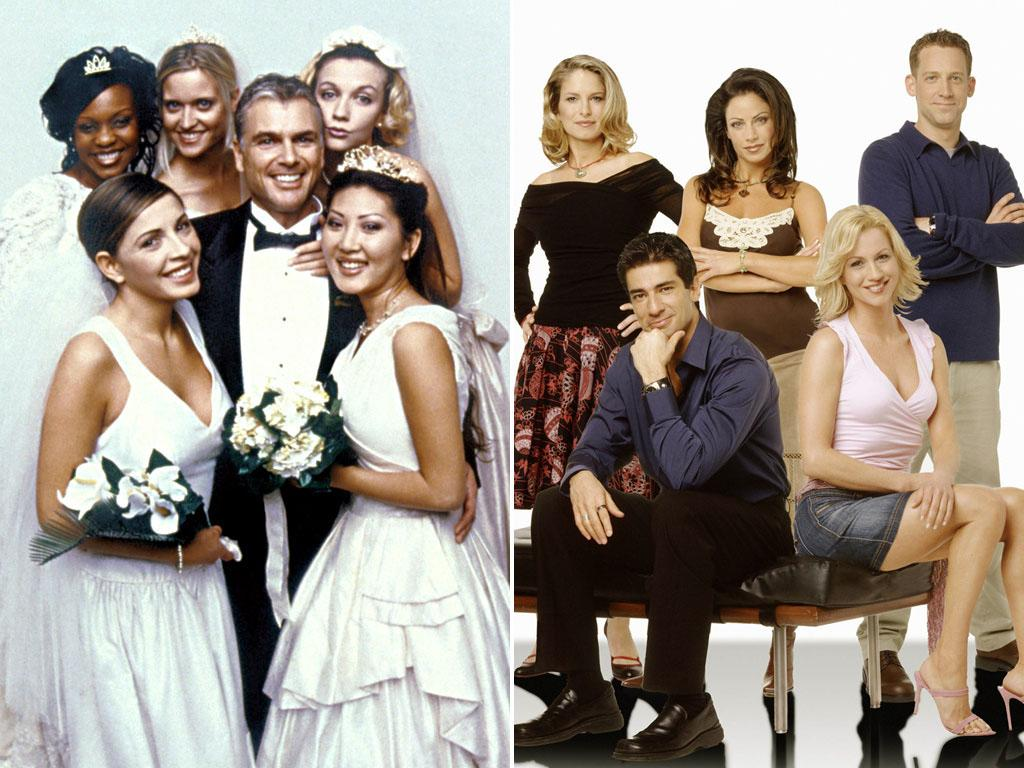 "<b>Idea:</b> ""Let's mock the very idea of marriage by having two strangers get married on national television!"" <br><br><b>That Led To:</b> ""Who Wants to Marry a Multi-Millionaire?"" (Fox, 2000)/""Married in America"" (Fox, 2003) <br><br><b>Did It Fail Miserably?</b> Thankfully, yes. ""Multi-Millionaire"" was a much-publicized debacle that ended in a quickly annulled union for nurse Darva Conger and ""millionaire"" Rick Rockwell. But Fox didn't learn its lesson and came back three years later with ""America,"" which aimed to find spouses for five single contestants… and let viewers decide who'd get married to whom by voting! We're happy to report that no actual marriages took place, and ""America's"" honeymoon lasted just one season."